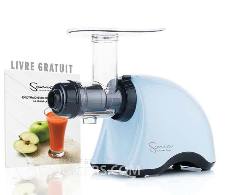 Sana Juicer EUJ-707 Bleu dragée + recipe book