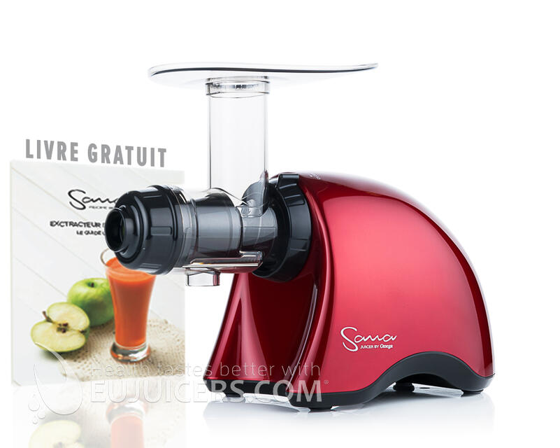 Sana Juicer EUJ-707 Rouge Ferrari + recipe book